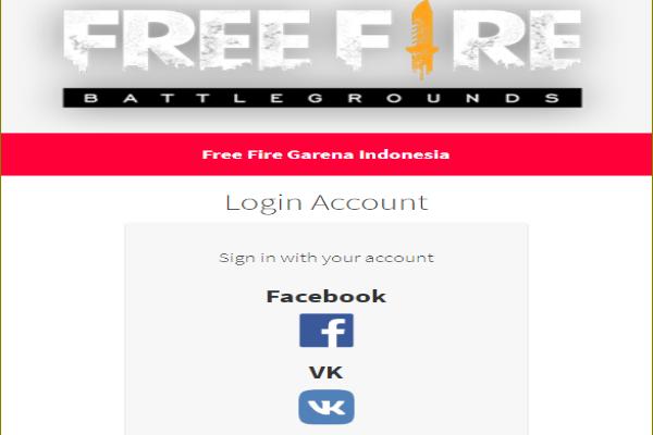 Halaman login Facebook dan VK Script phising free fire