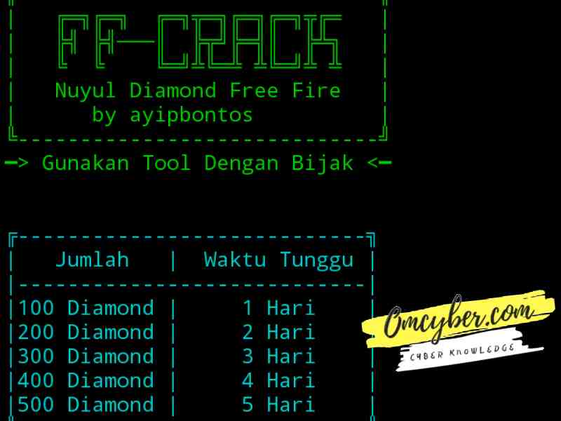 Cara hack diamond ff termux