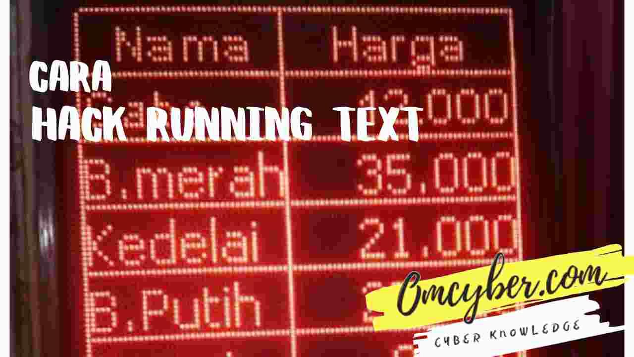 Cara hack running text