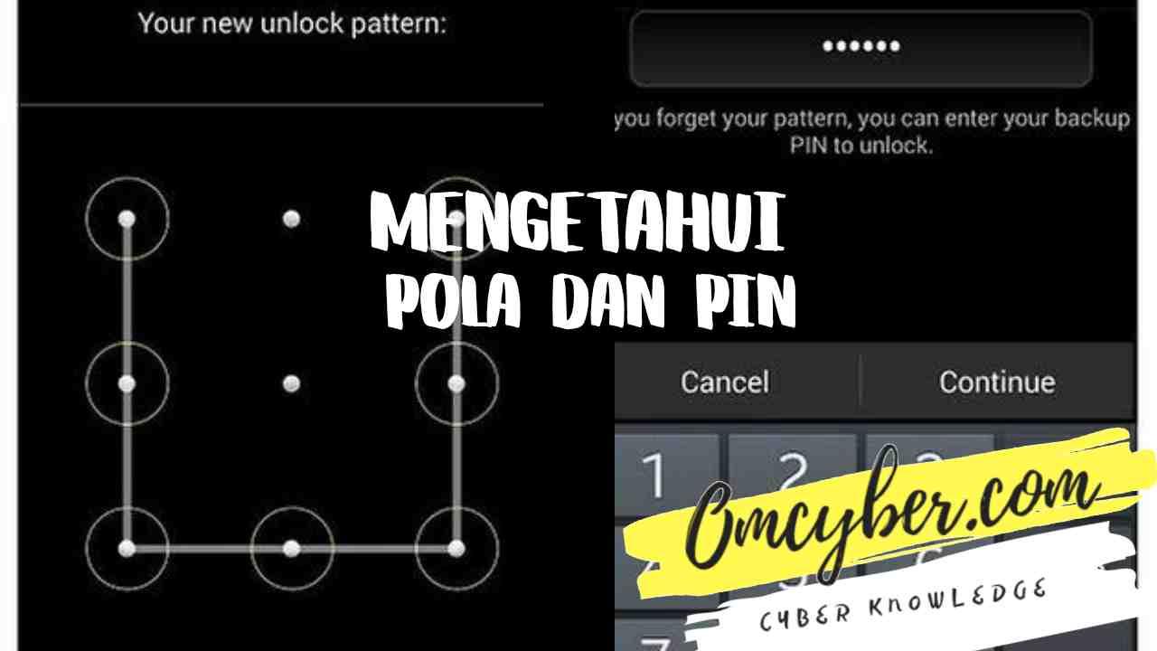 Cara mengetahui pola pin hp dan membuka kunci layar android