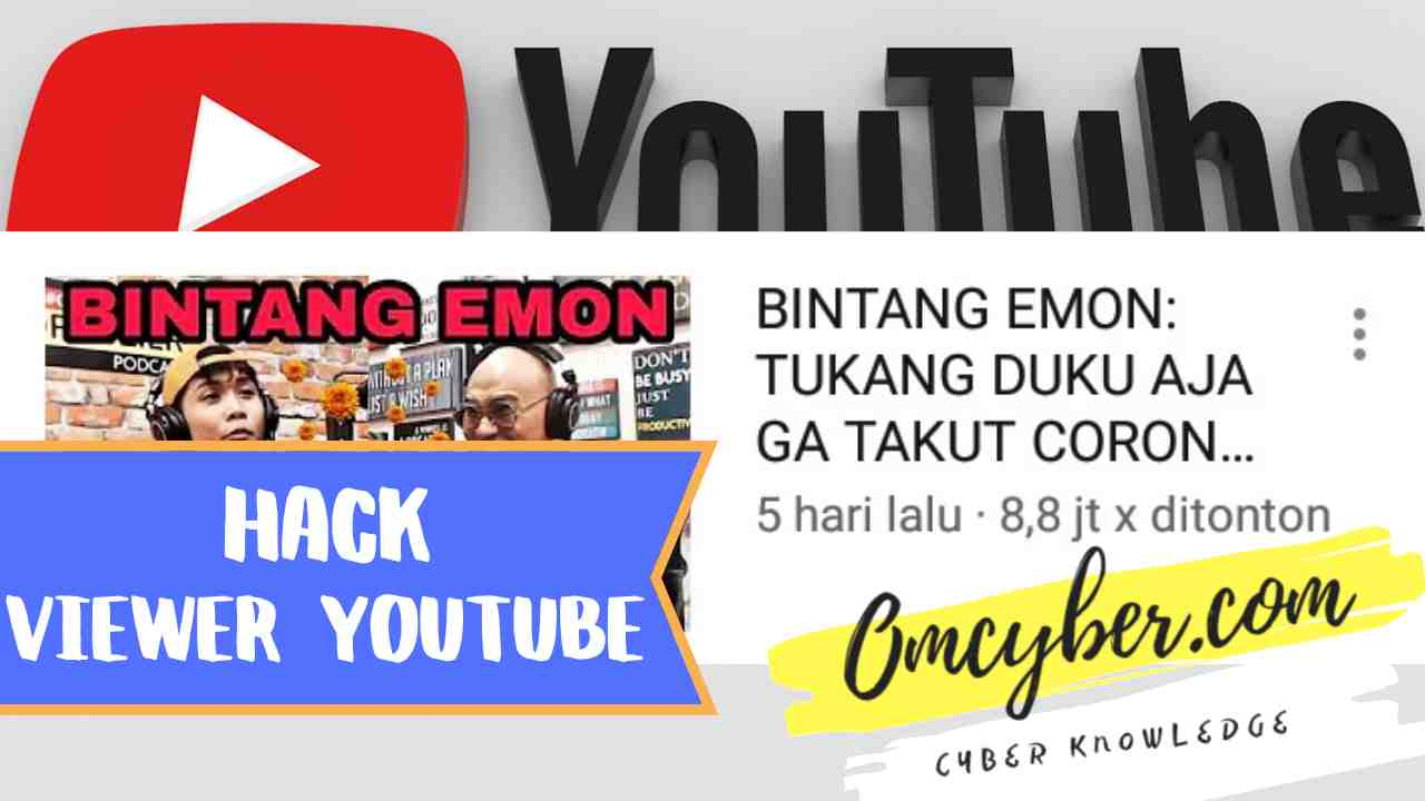 Cara hack viewer youtube untuk menambah penonton video
