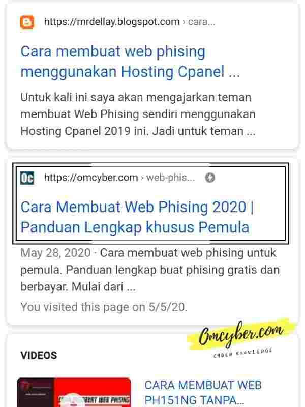 Memilih website dork google