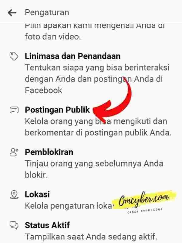 Postingan publik Facebook