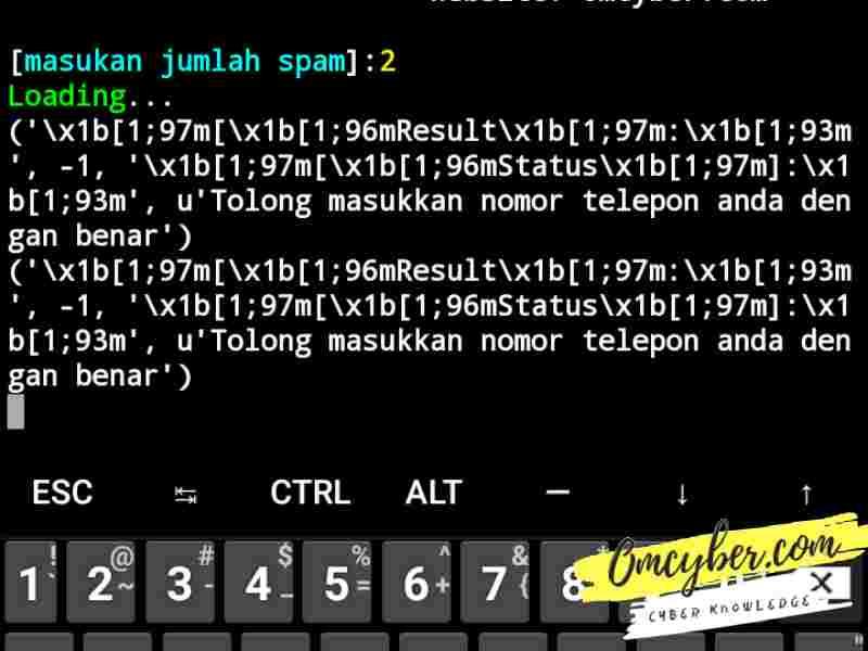Script spam call termux error
