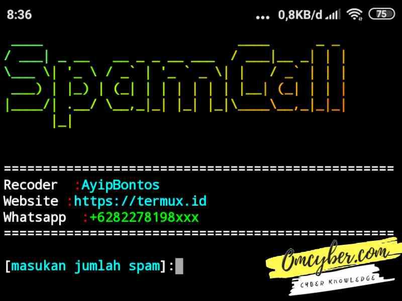 Script spam call termux
