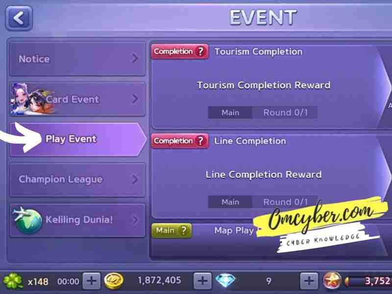 Selesaikan misi play event