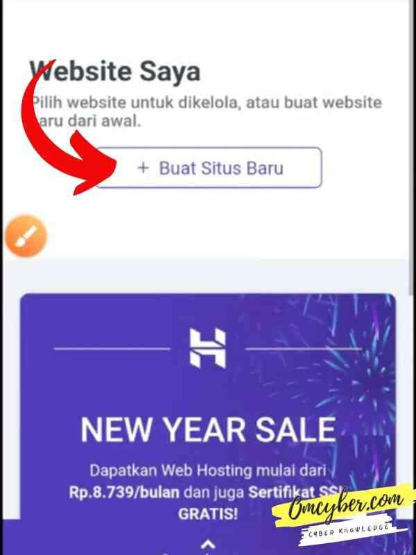 buat website baru