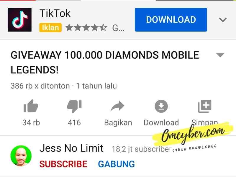 give away diamond ml gratis
