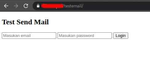 halaman login sederhana