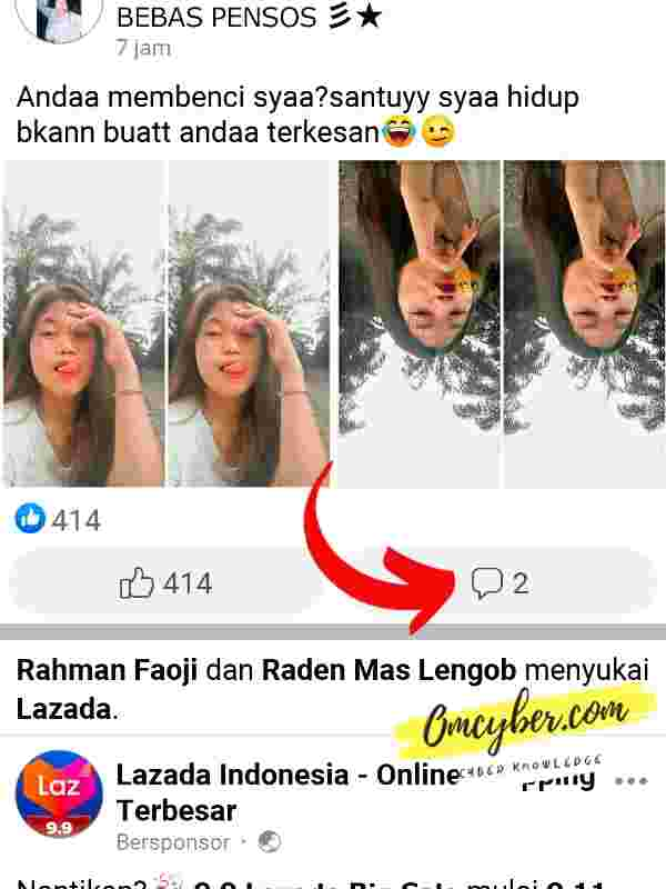 komentar facebook rusak