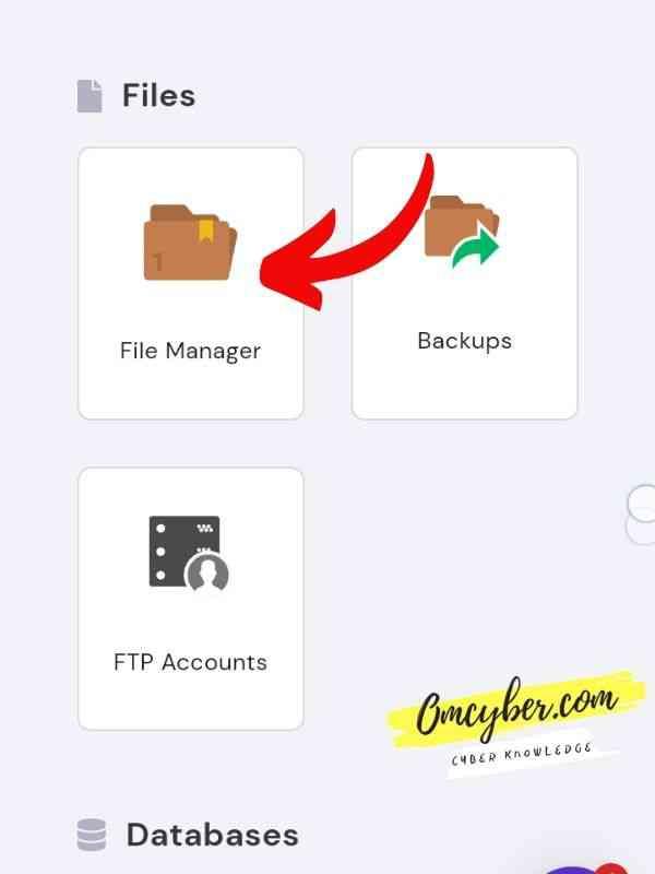 menu file cpanel hostinger