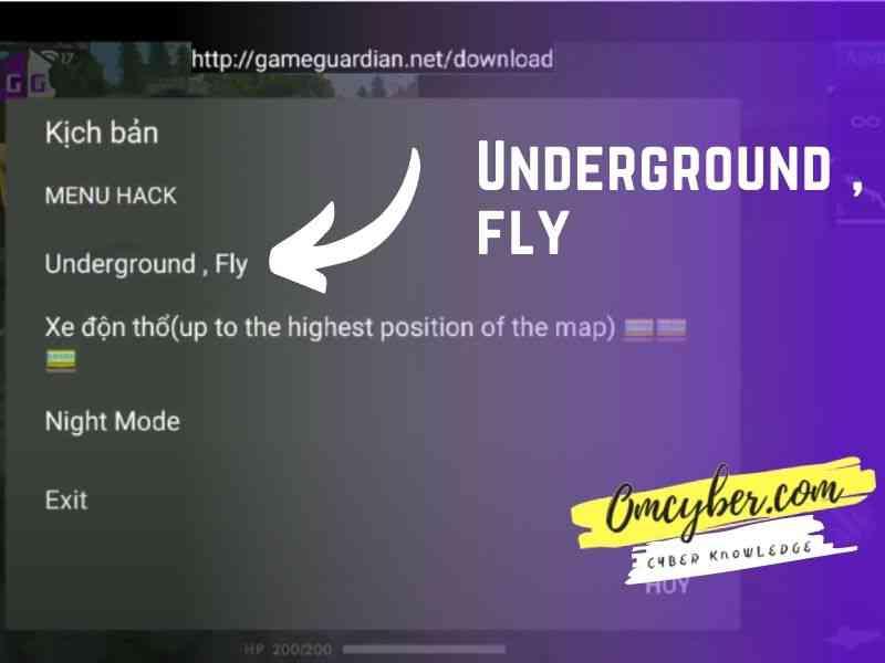 menu underground fly cheat fly hack free fire