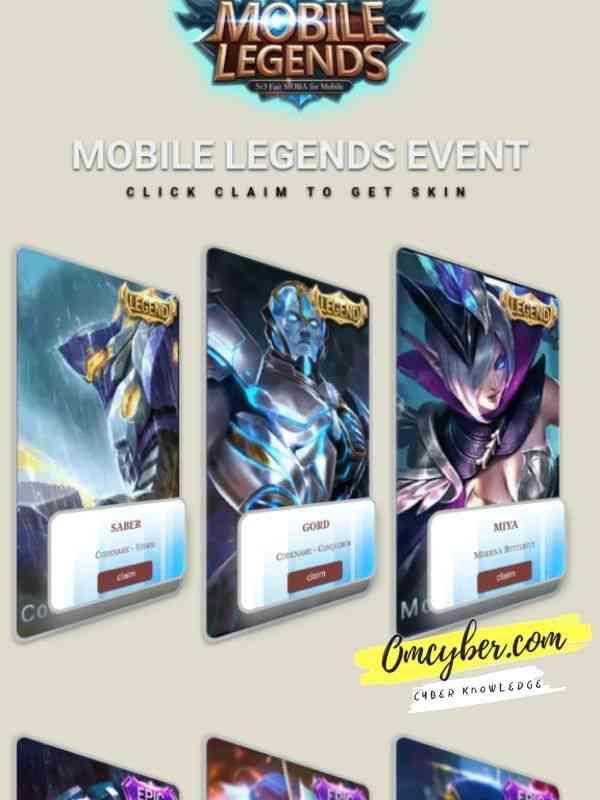 script phising mobile legends skin legend